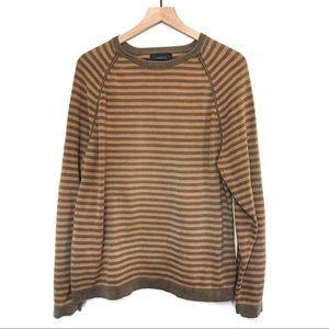 Express Brown & Tan Striped Sweater